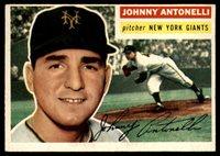 1956 Topps #138 Johnny Antonelli EX Excellent grey back