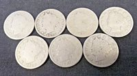 1889 - 1895 LIBERTY V NICKELS (7) COINS REDUCED 5/7/20 (6388)