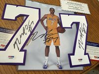 RAMON SESSIONS LOS ANGELES LAKERS AUTOGRAPHED (2)Number 7 And Photo W/COA