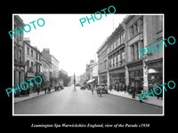 OLD 8x6 HISTORIC PHOTO LEAMINGTON SPA ENGLAND VIEW OF THE PARADE c1930