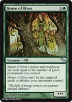 Drove of Elves (Uncommon) Near Mint Normal English - Magic the Gathering