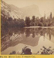 c1870 Mirror Lake Yosemite California Kilburn Brothers Stereoview Photograph