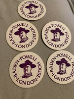 ⚜ Scouts UK Baden-Powell House London BP Coasters paperboard vintage, Lot Of 5