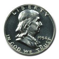 1954 Franklin Half Dollar 50C NGC PR67