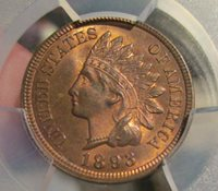 PCGS MS64RB 1893 Indian Head Cent