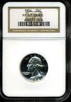 1954 25C Washington Silver Quarter Dollar PF67 Cameo NGC 638351-006