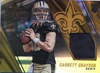 2015 PANINI ROOKIE AND STARS GARRETT GRAYSON SAINTS ROOKIE RC JERSEY RELIC
