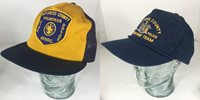 Baseball Trucker Lot 2 Vtg Cap Snapback Dutchess Cty Fire Police Hat USA Yupoong