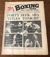 Vintage 1963 Boxing News Magazine Ring UK Dick McTarggart & Alf Matthews #17