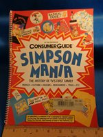 SIMPSONS - SIMPSON MANIA GUIDE BOOK (1) SPIRAL BOUND CONSUMER GUIDE BOOK * LQQK