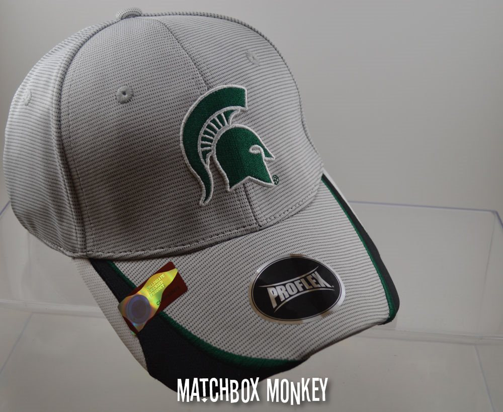 new style ffb04 72b7b Michigan State MSU Spartans Sparty Fitted Baseball Hat