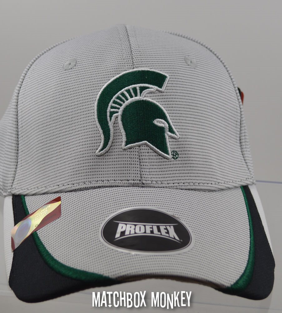 53b54b2610a7 ... usa michigan state msu spartans sparty fitted baseball hat a406a 3405e