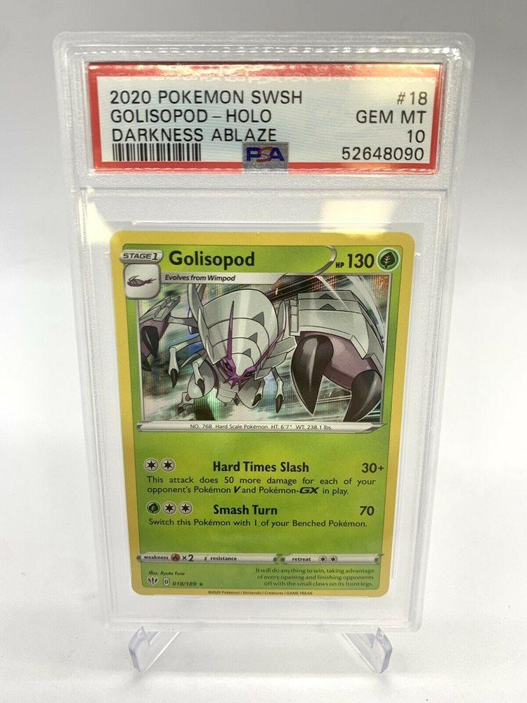 Pokemon Golisopod Darkness Ablaze 018//189 Holo Rare *