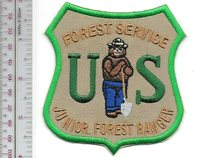 Smokey the Bear Junior Forest Ranger Patch Forest Service Green Khaki Patch