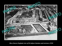 OLD 6 X 4 HISTORIC PHOTO OF HOVE ENGLAND, AERIAL VIEW OF ST AUBYNS GARDENS c1930