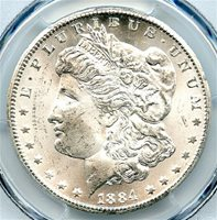 1884-CC Morgan Dollar, PCGS MS-65. Brilliant Uncirculated. Wow! This is an absolutely blast white blazer -- a real monster coin. Very attractive CC Dollar, and at a great price. Write for higher quality scan or layaway options. Zero problems guaranteed. Free Shipping.