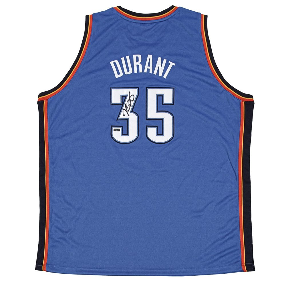 f2be685e5 Kevin Durant Autographed Authentic Blue Thunder Jersey. Click To Enlarge