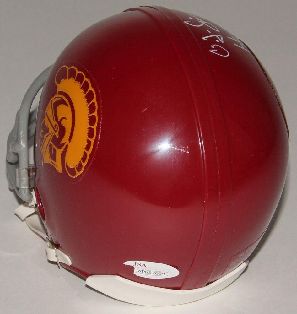 af59e22eaf6 O.J. Simpson Signed USC Trojans Mini Helmet Inscribed