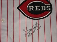 George Foster Autographed Jersey (reds) W/ Proof! - Autographed MLB Jerseys