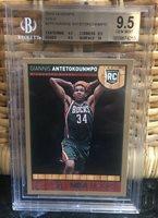 2013-14 Giannis Antetokounmpo PANINI NBA HOOPS GOLD RC 275 BGS 9.5 10 SUB PSA