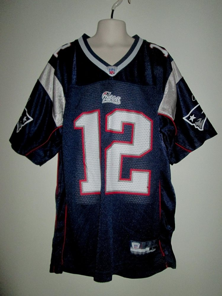 new styles c6987 e54e4 Reebok NFL EQUIPMENT Youth TOM BRADY JERSEY L 14-16 England Patriot  FOOTBALL #12