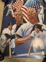 Mickey Mantle Signed 18x24 Lithograph by Simon PSA DNA Certified Autograph Auto