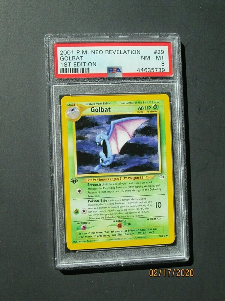Golbat 29//64 1st Edition NM Near Mint Neo Revelation Non-Holo Pokemon Card