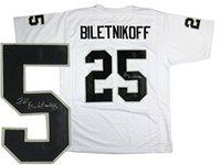 Fred Biletnikoff Signed Oakland Raiders White Custom Je  h64JRfHu