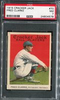 1915 Cracker Jack #70 Fred Clarke PSA 7