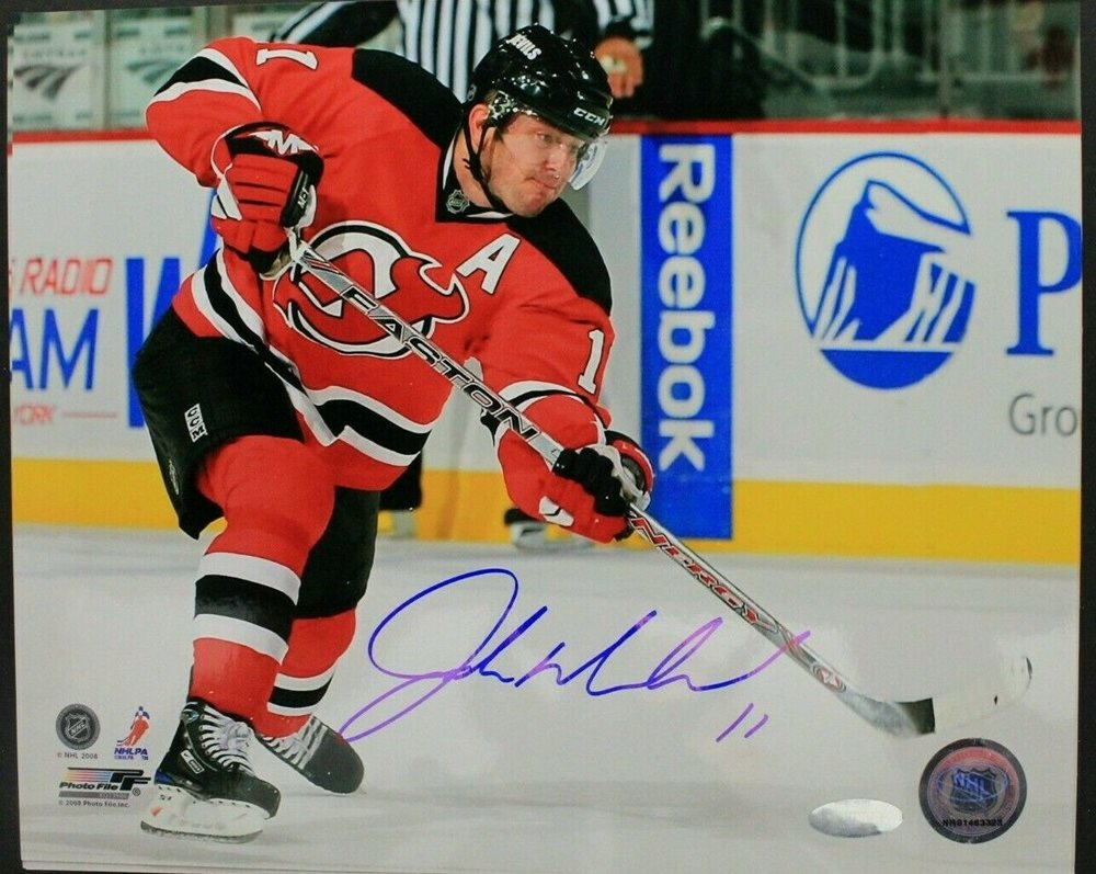 low cost d79ba 97a87 John Madden New Jersey Devils Signed Autographed 8x10 Hockey NHL Photo