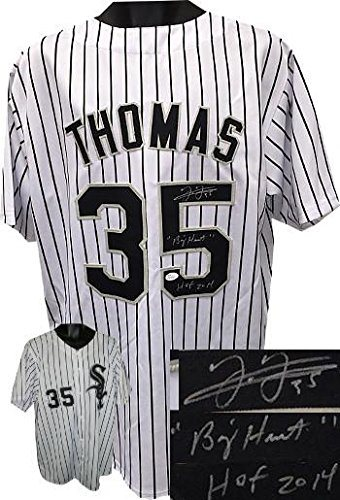 best sneakers 24bbb f92d2 Frank Thomas Chicago White Sox signed White Pinstripe Prostyle TB Jersey  dual HOF 2014 &