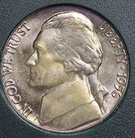 1956 P Jefferson Nickel Memorial Reverse 5 Cents MS 65 HIGHLY