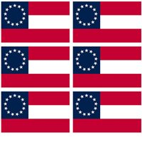 3x5 Inch Flag Decal Sticker - FIRST NATIONAL STARS BARS 13 STAR - 6 PACK