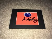 ANDREW NELSON SIGNED PENN STATE NITTANY LIONS MATTED FOOTBALL PYLON PIECE COA
