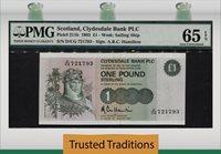 1 Pound 1983 Scotland Pmg 65 Epq Gem Pop One Only One Finer!