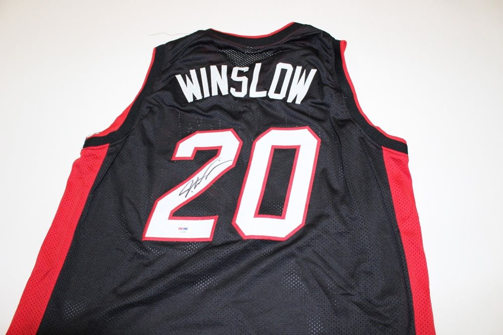 premium selection 11ebb bb893 Justise Winslow Miami Heat signed Jersey PSA/DNA COA Auto autographed