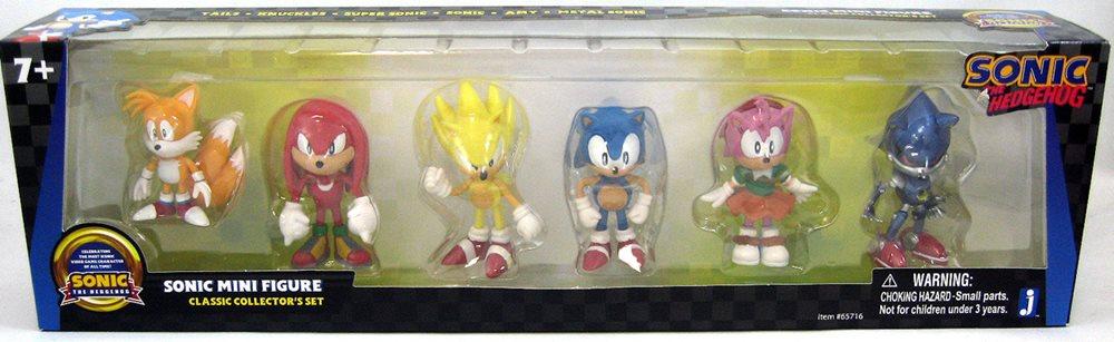 Sonic The Hedgehog 2 Inch Action Figure Mini Box Set Sonic Classic 6 Pack
