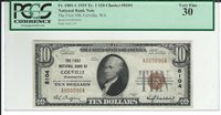 "1929 $10 CHARTER #8104 ""THE FIRST NB OF COLVILLE WASHINGTON"" PCGS VF30"