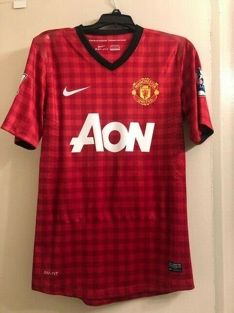 manchester united 12 13 home player issued jersey van p manchester united 12 13 home player issued jersey van persie