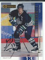 Girard Dicaire Signed 2000/01 Upper Deck Prospects CHL Card #65