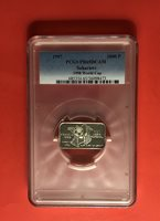 1997-SAHARAWI 1000 P.(1999 WORLD CUP),SILVER COIN,GRADED BY PCGS PF65