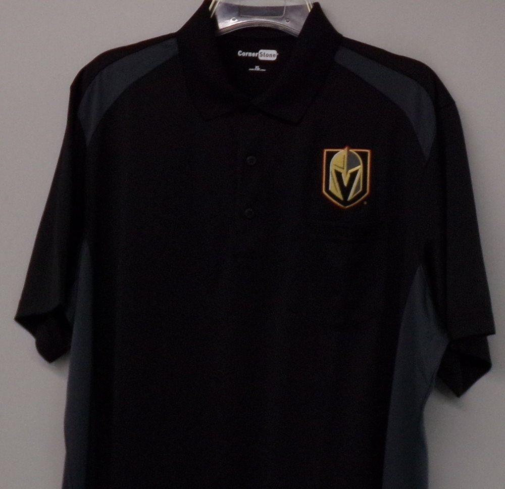 the latest 1523c e4ab2 Vegas Golden Knights NHL Hockey Embroidered Mens Pocket Polo XS-6XL,  LT-4XLT New