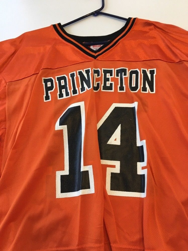 sale retailer 4025d cc662 Game Worn Used Princeton Tigers Lacrosse LAX Jersey #14 Wilson Size XL