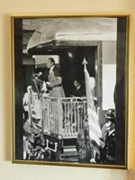 GERALD FORD 1976 Whistle Stop Train Tour Presidential Campaign framed Photograph