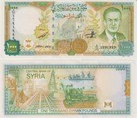 Syria 1000 Pounds 1997 Unc