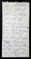 1992 MICHAEL JACKSON Emotional Autograph Note Signed after Beatles (LOA)