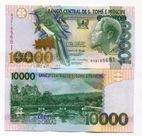 P66a Unc. St. Thomas and Prince 10000 Dobras 10 000 Money - 2004 - SAINT THOMAS