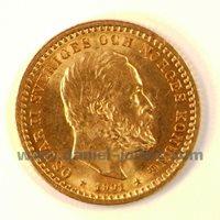 5 Kronor, Oscar II, 1901, Suède