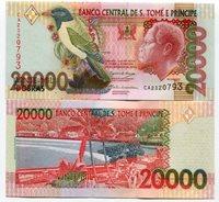 P67b UNC Saint Thomas and Prince 20000 Dobras 20 000 MONEY-SAO TOME e PRINCIPE NOTE - 2004 - SAINT THOMAS