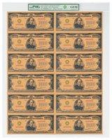 (2018) $10,000 Gold Certificate Smithsonian Edition 1934 Sheet PMG GEM SKU56414